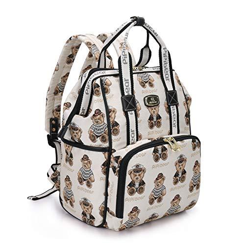 Pipi bear Changing Bag Backpack Stylish Jacquard Baby Travel Back Pack...