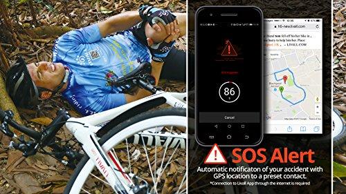 Livall bh51t Fahrradhelm mit Fernbedienung und 270Grad integrierter LED-Kontrollleuchten, Unisex, BH51T, Blau – Misty Blue, Nicht zutreffend - 5