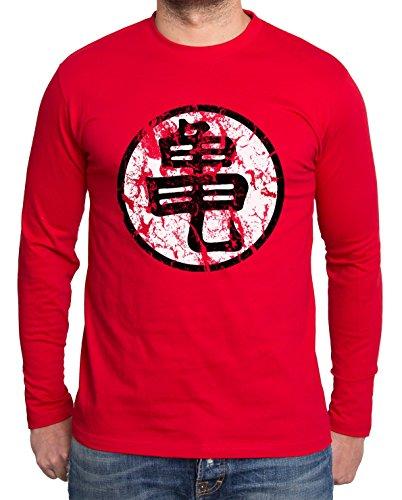 Sambosa - T-Shirt à Manches Longues - Homme - Rouge - S