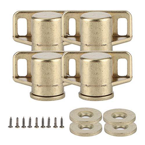Fdit 4-teilige antike Zinklegierung Magnetische Türverschlüsse Vintage-Stil Praktische Möbel Hardware-Beschläge Schrank Schrank Schränke Zubehör(2#)