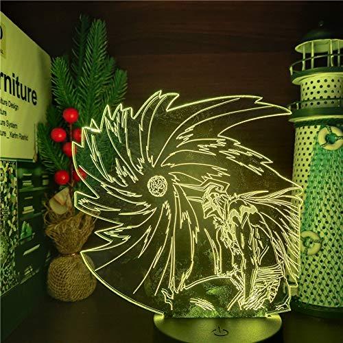 BLEACH Kurosaki ichigo ban kai Lámpara Decorativa de Mesa de 3D con Luz de Noche Luces Led Funciona con Pilas para Fiestas Bodas Festivales Decoración del Hogar Disposición Romántica