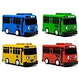 Tire hacia Atrás Coches Nuevo 4 Unids/Set Coche Pequeño Dibujos Animados Coreanos Tayo El Pequeño Autobús Araba Oyuncak Modelo De Coche Tirar