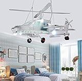 XGHW Plafonnier Lustre Abat Boy Hélicoptère de la personnalité de Chambre avec...