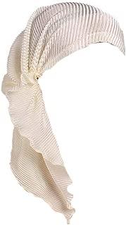 MaxNova Womens Chemo Hat Pre Tied Ruffle Head Scarves Turban Headwear for Cancer