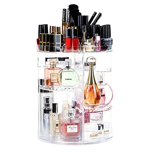 Lilebox 360 Grad drehbarer Make-up-Organizer, 360 Grad verstellbar, für Schmuck, Pinsel,...