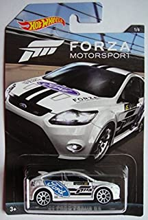 HOT WHEELS FORZA MOTORSPORT SERIES WHITE '09 FORD FOCUS RS 1/6