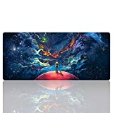 Ruifengsheng Large Gaming Mouse Pad,Extra Large Size Mat,Extended XXL Size Mouse Pad, Non-Slippery Rubber Base,(Edge Stitched) (35.4' 15.7') (90x40 R7)