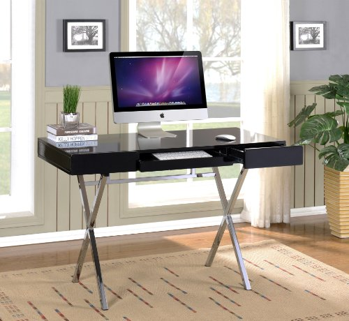 kings furniture pc brands Kings Brand Furniture Contemporary Style Home & Office Desk, Black/Chrome