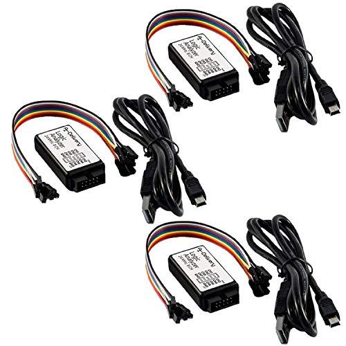 AZDelivery 3 x Logic Analyzer 8 CH 24MHz mit USB Kabel kompatibel mit Arduino inklusive eBook