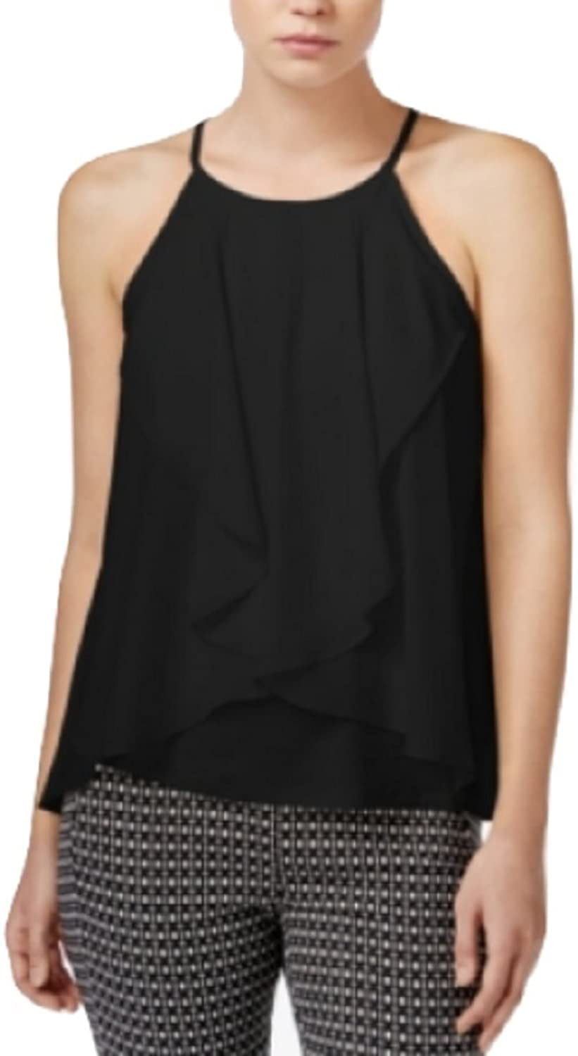 Bar III Sleeveless Draped Top Medium