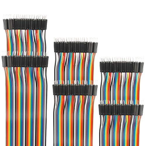 EDGELEC Dupont Jumper Breadboard Wire/Cables 7.9 inch (20cm) Male to Male
