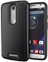 Droid Turbo 2 Case, Cimo [Shockproof] Case Heavy Duty Shock Absorbing Dual Layer Protection Cover for Motorola Verizon Droid Turbo 2 / Moto X Force (2015) - Black
