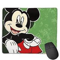 かわいいミッキーマウス マウスパット 小型マウスパッドは18×22cm 洗える 滑り止め 高級感 耐久性が良い