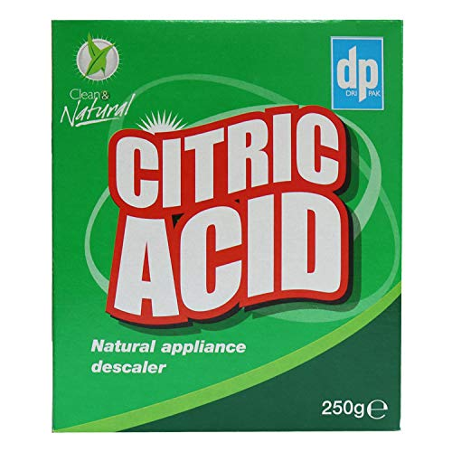 Dri-Pak Citric Acid Natural Appliance Descaler - Limescale Remover – 12 Packs of 250g