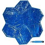 VEVOR Molde para Estampado de Cemento Poliuretano 74 x 1,5 cm Molde Piedra...