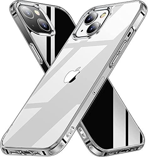 Pinshey Compatible con iPhone Pro MAX Funda Hard PC + Soft TPU Frame [Anti Amarillo] Funda para iPhone Pro MAX (6,7 Pulgadas), Transparente