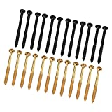 sharprepublic 24pcs / Pack Vis de Ramassage Humbucker Noir/Or pour Guitare Basse P90