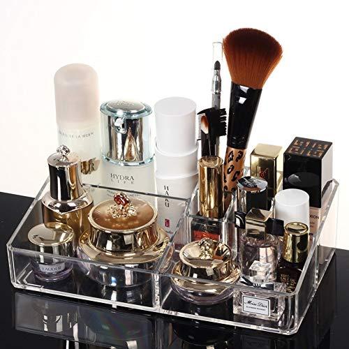 X&MM Cosmétiques boîte de Rangement Format Soins de la Peau Produits Maquillage Brosse Rouge à lèvres Maquillage boîte en Plastique Coiffeuse Finition Rack
