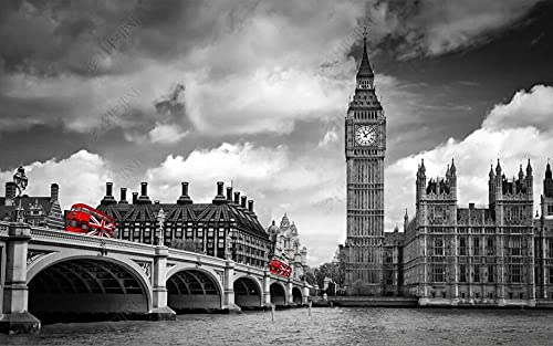 Wallpaper 3D Wallpapers Walls Mural Black and White City Landscape Architecture Wall Murals for Bedrooms Living Room Tv Background Wall Mural Decoration Art 430x300cm
