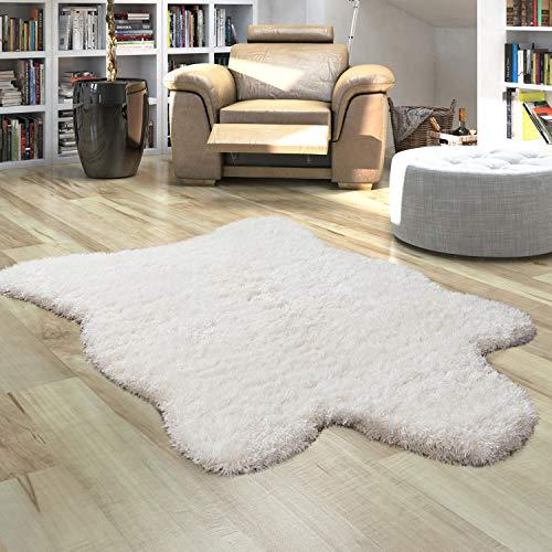 Paco Home Fellteppich Kunstfell XXL Imitat Flokati Stil Hochflor Versch. Größen u. Farben, Grösse:80x120 cm, Farbe:Weiß