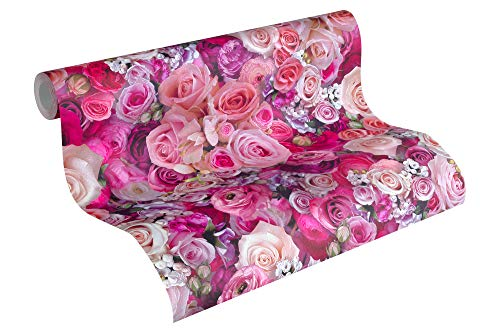 A.S. Création Vliestapete Urban Flowers Tapete floral 10,05 m x 0,53 m lila Made in Germany 327221 32722-1