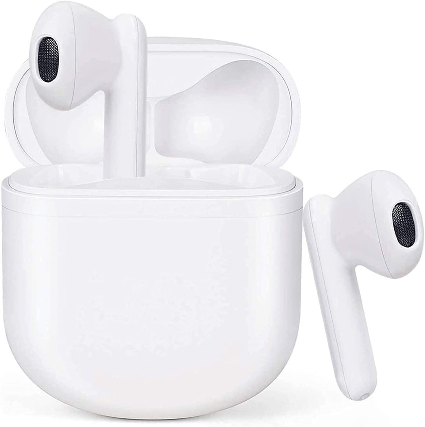 Wireless Earbuds Bluetooth 5.2 Headphones with Charging Case 3D Stereo Earpods Air Buds in-Ear Ear Buds with Deep Bass Touch Control Earphones Sport Headsets for Android/Samsung/iPhone Earbuds