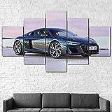 QQWW Bilder Abstrakt 5 Teilig Wandbild XXL Audi R8 V10 RWD