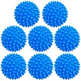 8 Pack Laundry Dryer Drying Balls,Reusable Fabric Softener Alternative,Plastic Washing Machine Dryer Ball for Laundry,Clothes,Fabrics,Reduce Wrinkles and Static,Blue