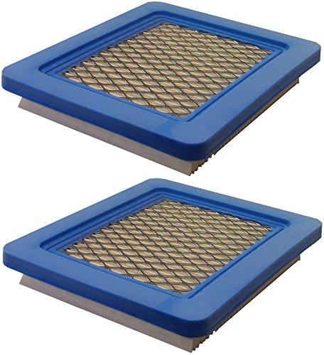 Lot de 2 cartouches de filtre à air plat Briggs & Stratton 491588s