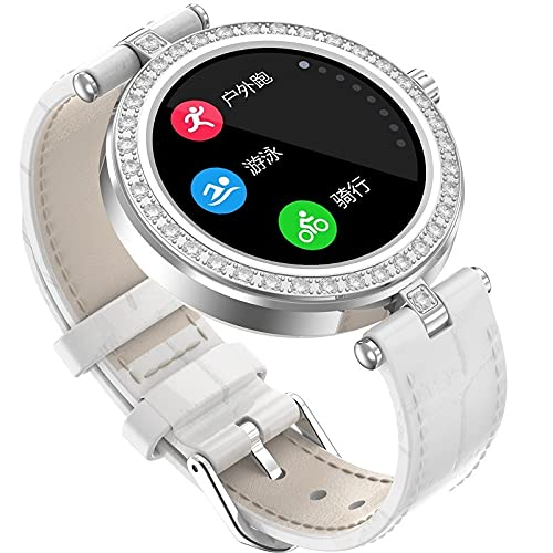 JHHXW Reloj Inteligente de Las Mujeres, Pantalla IPS de 1.09 Pulgadas, recordatorio de Ciclo Menstrual Femenino, múltiples Modos de Deporte, música Bluetooth, Mensaje de Mensaje, IP67 Impermeable