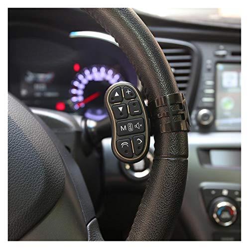 Keep it simple Botón Modificado del Volante multifunción Modificado Universal Wireless Car Rodelador de 8 Teclas Control Remoto Ajuste para DVD GPS (Color : Black)