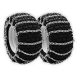 OakTen Set of Two Snow Thrower Tire Chain for John Deere TY25229 (22x9.5-12)