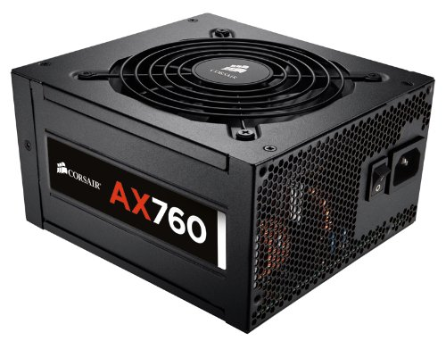 CORSAIR AX Series, AX760, 760 Watt, 80+ Platinum Certified, Fully Modular Power Supply