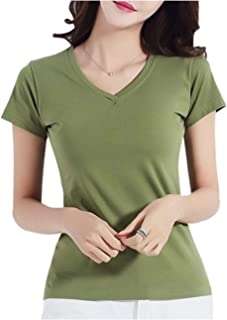 [ネコート] 半袖 Tシャツ シンプル Vネック カットソー トップス 無地 きれいめ 大きいサイズ M ~ 3XL レディース
