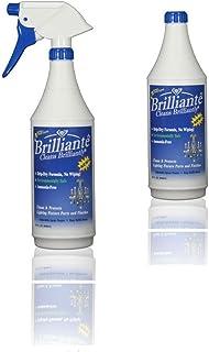 Brilliante Crystal Chandelier Cleaner - Manual Sprayer 32oz Environmentally Safe, Ammonia-Free, Drip-Dry Formula, Made in ...