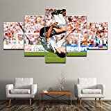 Angle&H 5 Stücke Wandkunst Gemälde Miroslav Klose Modular