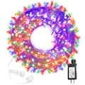 FUNPENY 300 LED Indoor String Lights, 100 FT Plug in Waterproof String Lights with 8 Modes for Halloween Thanksgiving Christmas Garden Decoration, Indoor and Outdoor Decoration (Multi-Colored)