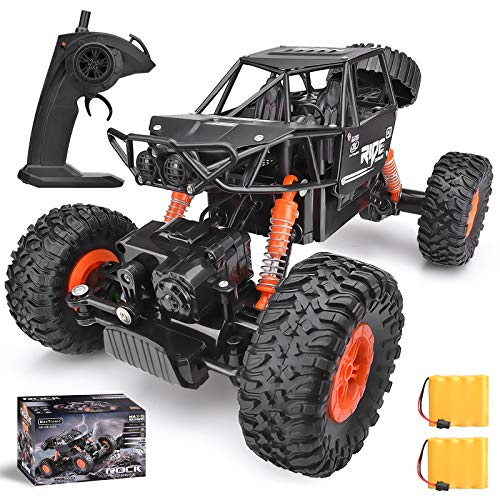 Remote Control Truck ,1:16 Off Road Christmas Remote Control Car with Two Rechargeable Batteries, 2.4Ghz 4WD All Terrain Rc Truck as Cool Birthday Gifts for Boys & Girls Age 8 9 10 11 12 13