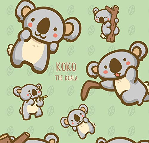 Carta da regalo–Koko il koala Bear–Design carino per Baby Shower, per bambini di compleanno, Natale–5fogli–50,8x 71,1cm 50x 70cm