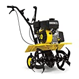 CHAMPION POWER EQUIPMENT 22-Inch Dual Rotating Front Tine Tiller with Storable Transport Wheels