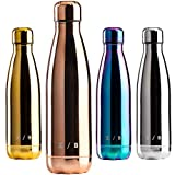 ORION BOTTLE - C-Bottle UV Style Plata, Unisex Adulto, Oro Rosa
