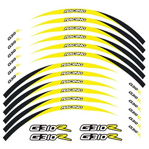 Motos Calcomanías Equipo de Carreras de Motocicletas Accesorios Accesorios Rueda Neumático Rim Decoración Adhesiva Pegatina de calcomanía para G310R G310 R Pegatinas (Color : 250024)