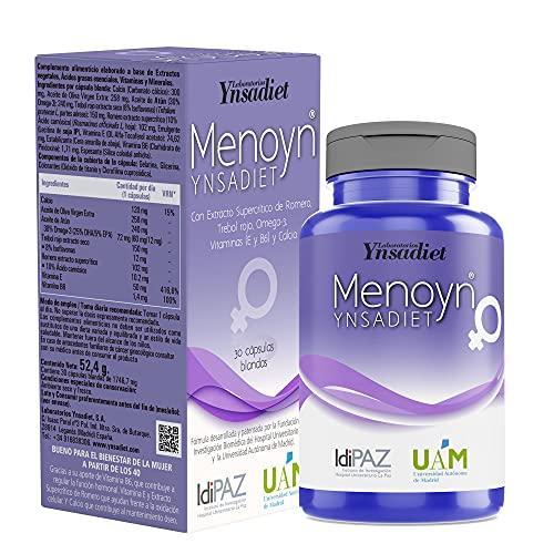 Suplemento para Menopausia 30 Cápsulas| Omega 3+ Vitamina B6 + Vitamina E| Aquisana