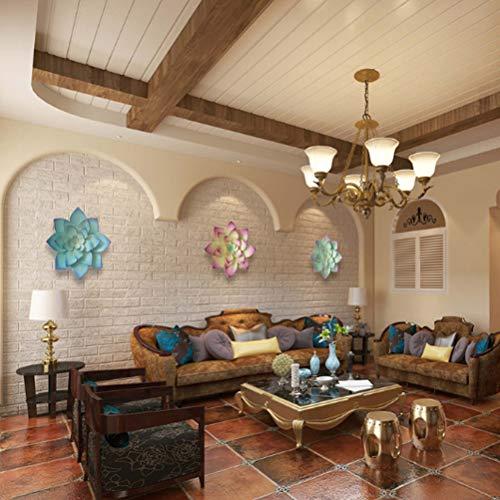 KiMiLIKE Metal Flower Wall Decor Wall Art Decorations Hanging for Indoor Outdoor Bedroom Living Room Wall Hanging Decorative Ornaments Home Decor