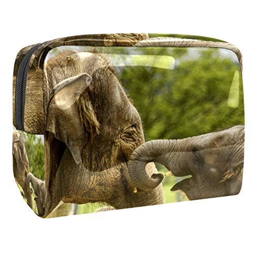 Bolsa de maquillaje portátil con cremallera, bolsa de aseo de viaje para mujeres, práctica bolsa de almacenamiento para cosméticos, bebé elefante