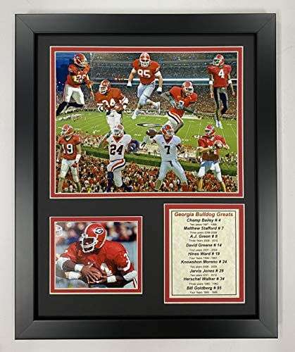 Georgia Bulldogs - Greats 11' x 14' Framed Photo Collage by Legends Never Die, Inc.