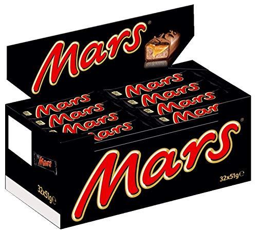 Mars Schokoriegel | Karamell, Schokolade | 32 Riegel in einer Box (32 x 51 g)