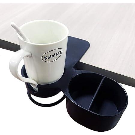 Supercope クリップ 式 ドリンク ホルダー マグカップ アウトドア オフィス 机 (ブラック)