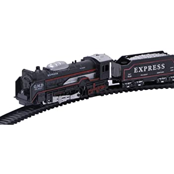 KF Deals Battery Operated Train Toy Set for Kids-Black