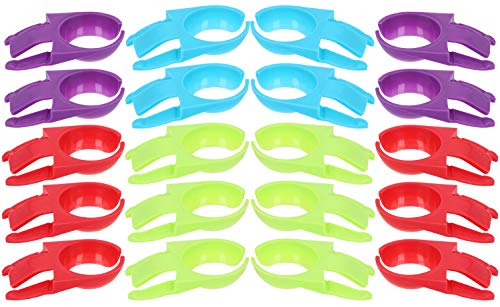 COM-FOUR® 20x wijnglasclips voor borden, in prachtige kleuren, bijv. voor wijnglazen, champagneglazen of cocktailglazen (20 stuks - wijnglas clips)